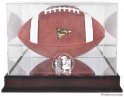 Florida State Seminoles Mahogany Base Logo Football Case with Mirror Back