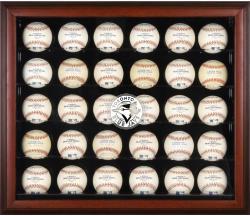 Toronto Blue Jays Logo Mahogany Framed 30-Ball Display Case