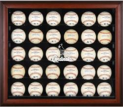 St. Louis Cardinals Logo Mahogany Framed 30-Ball Display Case