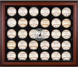 Mahogany Framed 30-ball Case (expos) Logo