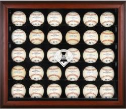 Philadelphia Phillies Logo Mahogany Framed 30-Ball Display Case