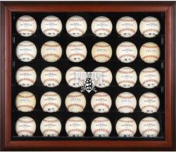 Pittsburgh Pirates Logo Mahogany Framed 30-Ball Display Case