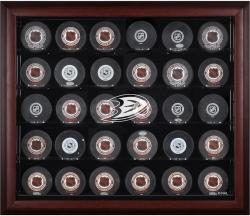 Anaheim Ducks 30-Puck Mahogany Display Case - Mounted Memories