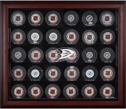 Anaheim Ducks 30-Puck Mahogany Display Case
