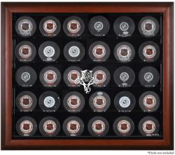 Florida Panthers 30-Puck Mahogany Display Case - Mounted Memories