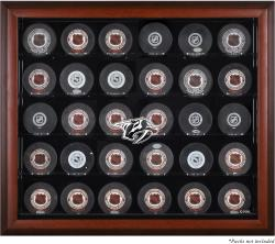 Nashville Predators 30-Puck Mahogany Display Case - Mounted Memories