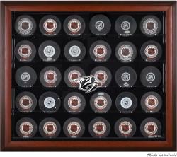 Nashville Predators 30-Puck Mahogany Display Case