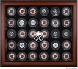 Buffalo Sabres 30-Puck Mahogany Display Case