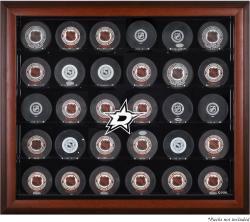 Dallas Stars 30-Puck Mahogany Display Case