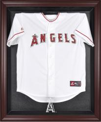 Los Angeles Angels of Anaheim Mahogany Framed Logo Jersey Display Case - Mounted Memories