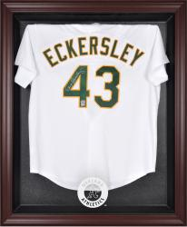 Oakland Athletics Mahogany Framed Logo Jersey Display Case - Mounted Memories