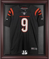 Cincinnati Bengals Frame Jersey Display Case - Mahogany - Mounted Memories