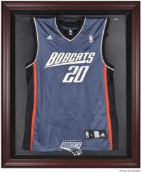 Charlotte Bobcats Mahogany Framed Team Logo Jersey Display Case