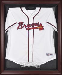 Atlanta Braves Mahogany Framed Logo Jersey Display Case