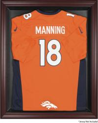 Denver Broncos Mahogany Frame Jersey Display Case - Mounted Memories