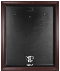 NBA Brooklyn Nets Mahogany Framed Logo Jersey Display Case - Mounted Memories