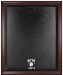 NBA Brooklyn Nets Mahogany Framed Logo Jersey Display Case