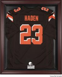 Cleveland Browns Frame Jersey Display Case - Mahogany - Mounted Memories