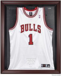 Chicago Bulls Mahogany Framed Team Logo Jersey Display Case - Mounted Memories