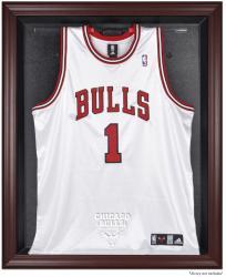 Chicago Bulls Mahogany Framed Team Logo Jersey Display Case
