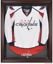 Washington Capitals Mahogany Jersey Display Case - Mounted Memories