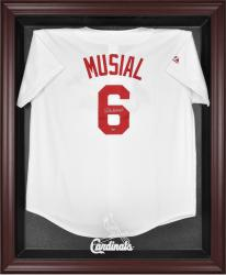 St. Louis Cardinals Mahogany Framed Logo Jersey Display Case - Mounted Memories