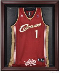 Cleveland Cavaliers Mahogany Framed Team Logo Jersey Display Case - Mounted Memories