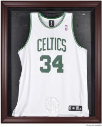 Boston Celtics Mahogany Framed Team Logo Jersey Display Case - Mounted Memories
