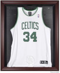 Boston Celtics Mahogany Framed Team Logo Jersey Display Case