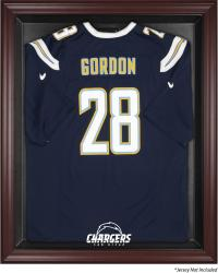 San Diego Chargers Mahogany Frame Jersey Display Case