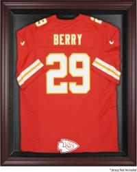 Kansas City Chiefs Mahogany Frame Jersey Display Case - Mounted Memories