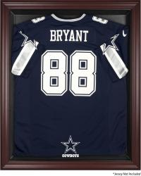 Dallas Cowboys Mahogany Frame Jersey Display Case - Mounted Memories