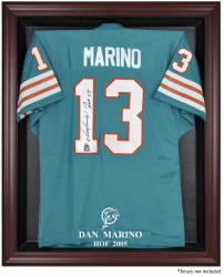 Miami Dolphins Dan Marino Hall of Fame Mahogany Jersey Case - Mounted Memories