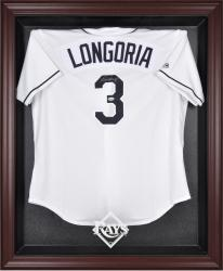 Tampa Bay Rays Mahogany Framed Logo Jersey Display Case - Mounted Memories