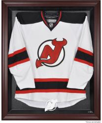 New Jersey Devils Mahogany Jersey Display Case - Mounted Memories