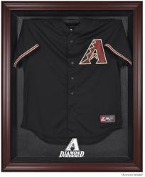 Arizona Diamondbacks Mahogany Framed Wordmark Jersey Display Case - Mounted Memories