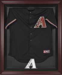 Arizona Diamondbacks Mahogany Framed Logo Jersey Display Case - Mounted Memories