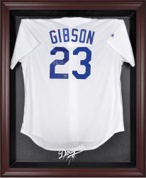 Los Angeles Dodgers Mahogany Framed Logo Jersey Display Case - Mounted Memories