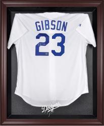 Los Angeles Dodgers Mahogany Framed Logo Jersey Display Case