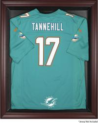 Miami Dolphins Mahogany Framed Jersey Display Case - Mounted Memories