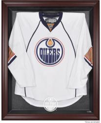 Edmonton Oilers Mahogany Jersey Display Case - Mounted Memories