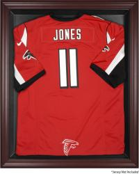 Atlanta Falcons Frame Jersey Display Case - Mahogany