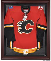 Calgary Flames Mahogany Jersey Display Case - Mounted Memories