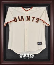 San Francisco Giants Mahogany Framed Logo Jersey Display Case