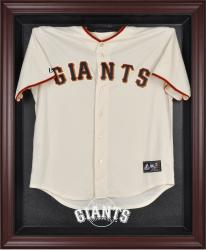 San Francisco Giants Mahogany Framed Logo Jersey Display Case