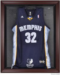 Memphis Grizzlies Mahogany Framed Team Logo Jersey Display Case - Mounted Memories