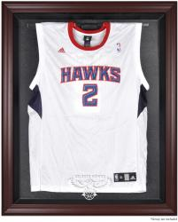 Atlanta Hawks Mahogany Framed Team Logo Jersey Display Case - Mounted Memories