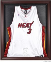 Miami Heat Mahogany Framed Team Logo Jersey Display Case