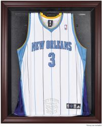 New Orleans Hornets Mahogany Framed Team Logo Jersey Display Case - Mounted Memories