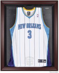 New Orleans Hornets Mahogany Framed Team Logo Jersey Display Case